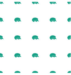 Hedgehog icon pattern seamless white background vector