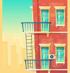 house facade element vector image