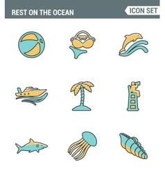 Icons line set premium quality of rest on the vector image