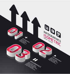 isometric modern infographic graph vector image