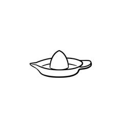 lemon squeezer hand drawn sketch icon vector image