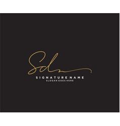 Letter sd signature logo template vector