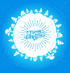 light blue christmas card vector image vector image