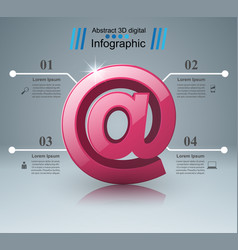 Mail and email icon abstract infograpfic vector