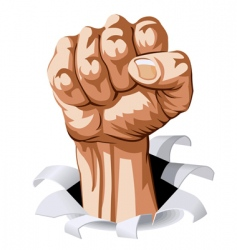 man fist vector image