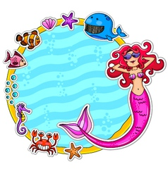Mermaid frame vector