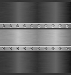 metal texture with horizontal iron plate with vector image