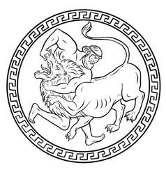 Nemean lion 12 labours hercules heracles vector