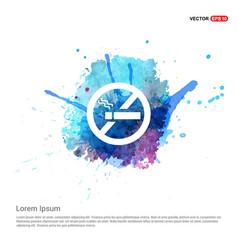no smoking area - watercolor background vector image