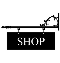 Old shop sign vector