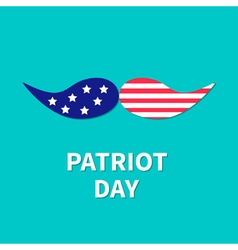 Patriot day mustaches Flat vector image