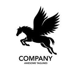 pegasus logo vector image