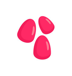 Pomegranate seeds icon flat style vector