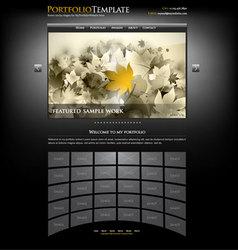Portfolio template vector