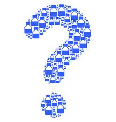 Question composition of liquid bottle icons vector