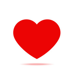 red heart with shadow isolated icon vector image