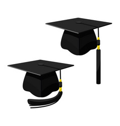 school cap in cartoon style vector image
