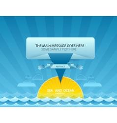 Sea message design vector