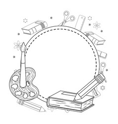 Seal stamp and school supplies design vector