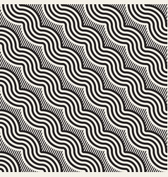 Seamless monochrome pattern abstract stripy vector