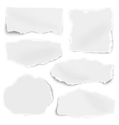 set of paper different shapes scraps isolated vector image