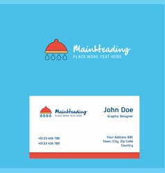 shower logo design with business card template vector image