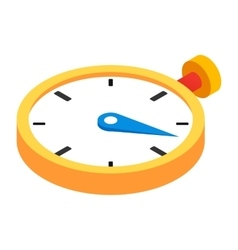 Stopwatch 3d isometric icon vector image