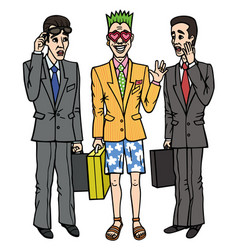 The office worker ignored dress code vector