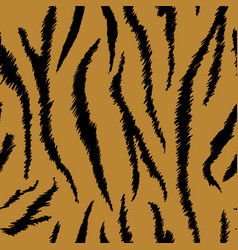 tiger texture seamless animal pattern background vector image