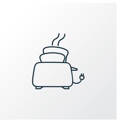 toaster icon line symbol premium quality isolated vector image
