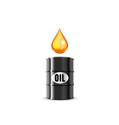 trade oil in a barrel on a white background vector image