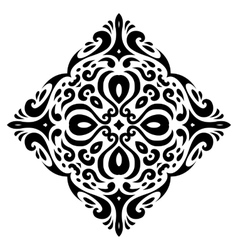 tribal tattoo square shape vector image