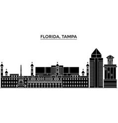 Usa florida tampa architecture city vector