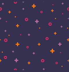 violet memphis seamless pattern 80s - 90s style vector image