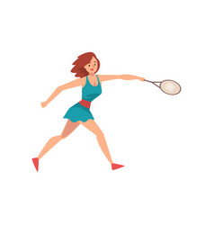 young woman playing tennis professional sports vector image