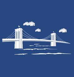 brooklyn blue vector image vector image