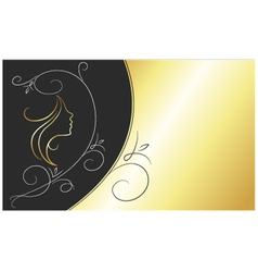 card for beauty salon vector image vector image