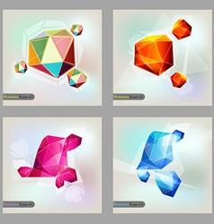 Set of polygonal geometric figures Brochure vector image