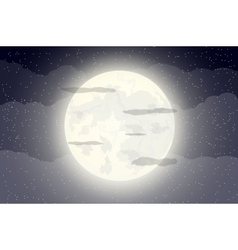sky with stars and moon vector image
