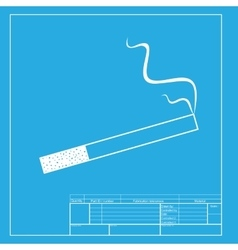 Smoke icon great for any use White section of vector image vector image