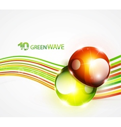 abstract wavy lines vector image vector image