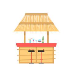 beach bar on white background vector image