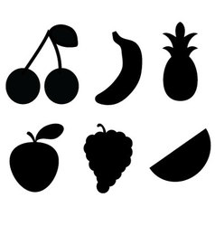 Black fruit Silhouettes vector image