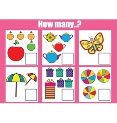 Counting educational children game kids activity vector image vector image