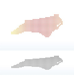 Map of USA North Carolina State with Dot Pattern vector image