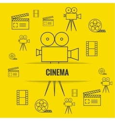 Abstract background with cinema vector image vector image