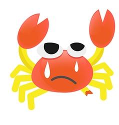 Cartoon Crab injured vector image