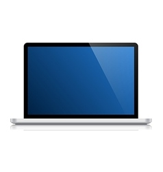 glossy laptop isolated on white vector image vector image
