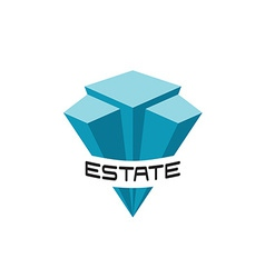 Real estate buildings logo template vector image vector image
