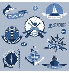 Sea Labels Set vector image vector image